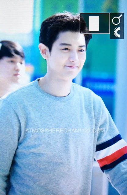 170917 Chanyeol at Incheon Airport departing to London