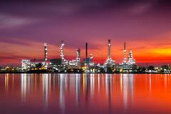 Petrochemical plant area