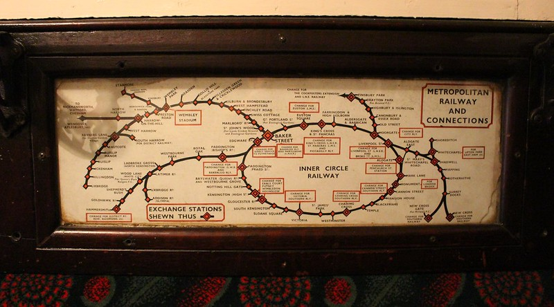 Early London Underground map, London Transport Museum