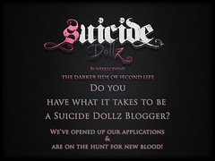 Suicide Dollz is looking for blogger