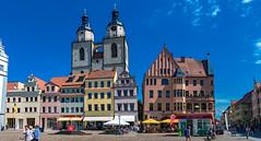 Häuser am Markt mit Stadtkirche St. Marien