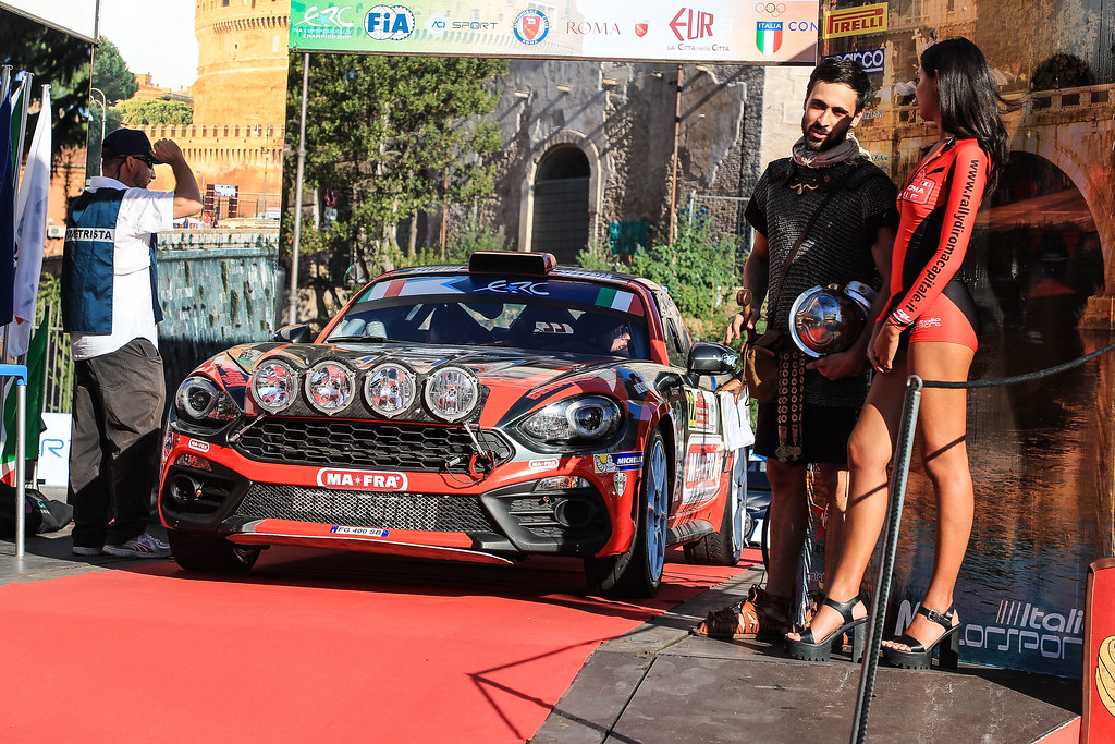 22 MODANESI Andrea (ITA)  RENZETTI Daniele (ITA) ) FIAT ABARTH 124 start during the 2017 European Rally Championship ERC Rally di Roma Capitale,  from september 15 to 17 , at Fiuggi, Italia - Photo Jorge Cunha / DPPI