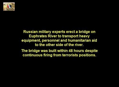 Military Bridge in Deir Ezzor Built by Russian Military Experts