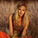 blonde hippie