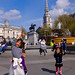Audrey and Grace in Trafalgar Square