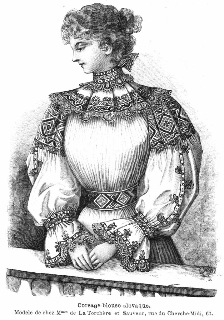 Corsage-blouse slovake