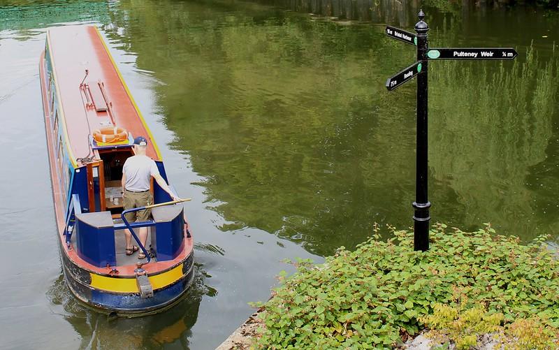 Canal boat, Bath, England