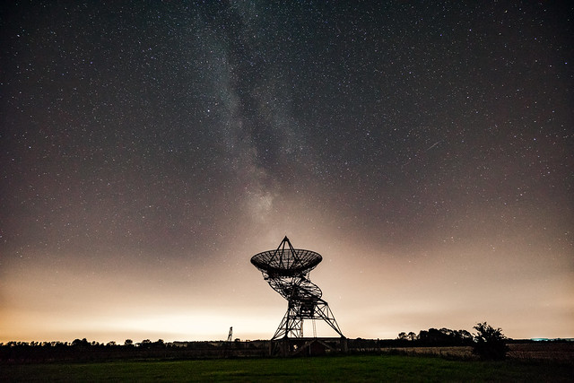 Mullard Radio Astronomy Observatory, Cambridge, Milky Way, 15th August 2017