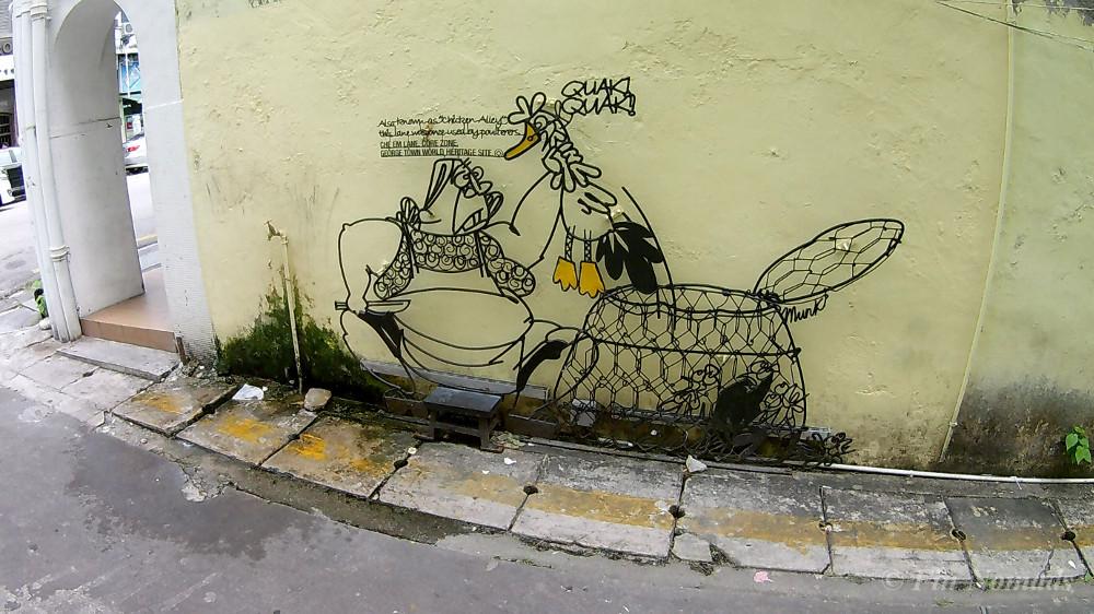 chicken alley street art