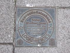 Photo of Winifred Laver bronze plaque