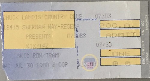 1988 Concert TIcket Stubs
