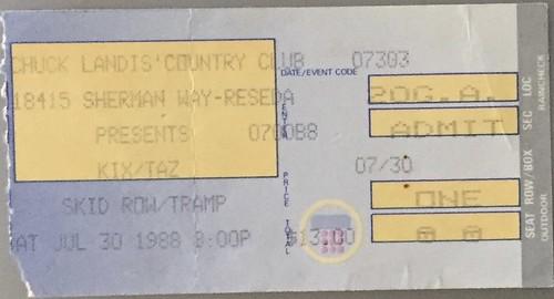 1988 Concert TIcket Stubs