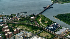 Rockaway, NY: Broad Channel Junction aerial view