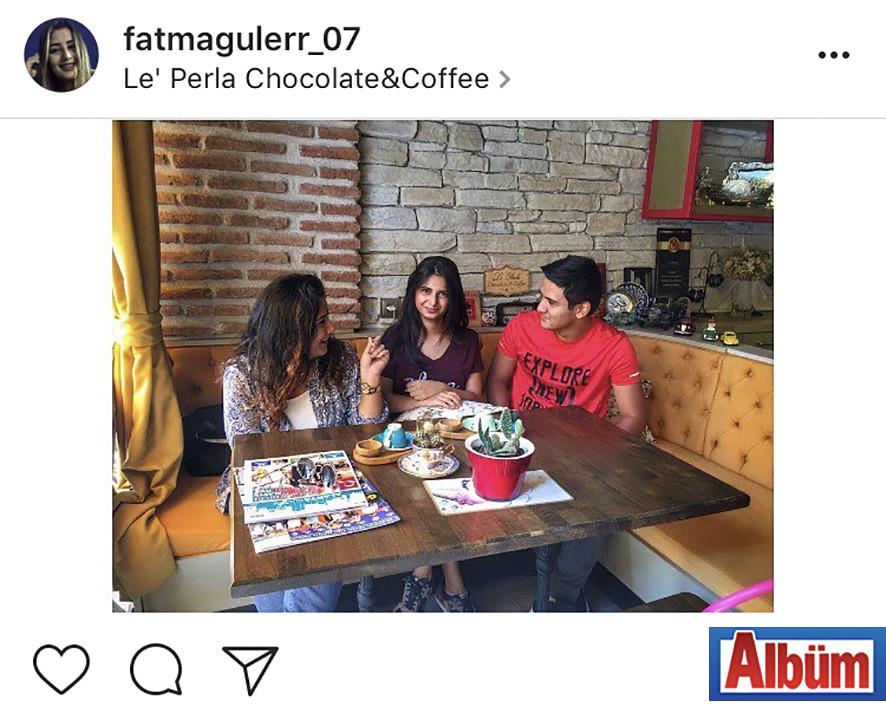 Fatma Güler, dostlarıyla Le' Perla Chocolate & Coffee'de harika bir gün geçirdi.