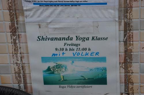 Yoga mit Volker am Strand von Valle Gran Rey
