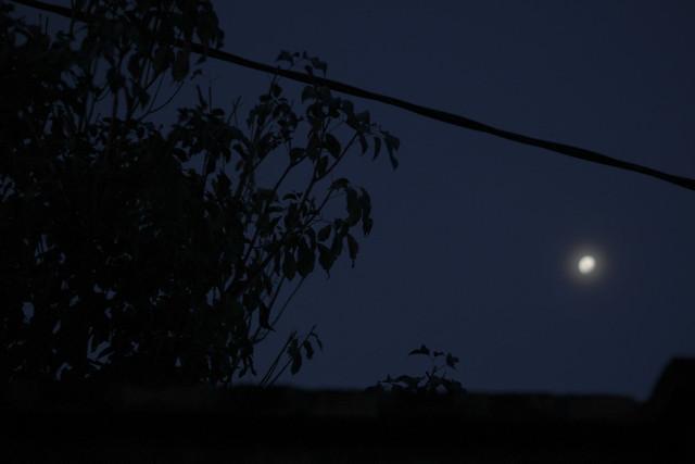 Moon, Canon EOS REBEL T5, Canon EF50mm f/1.8 II