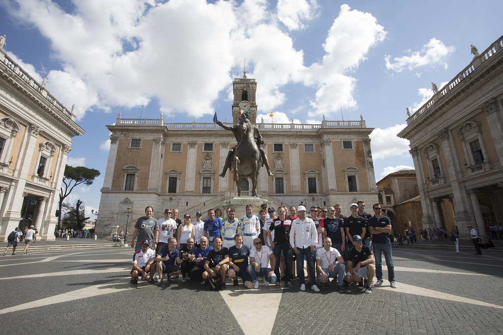group photo ERC during the 2017 European Rally Championship ERC Rally di Roma Capitale,  from september 15 to 17 , at Fiuggi, Italia - Photo Gregory Lenormand / DPPI