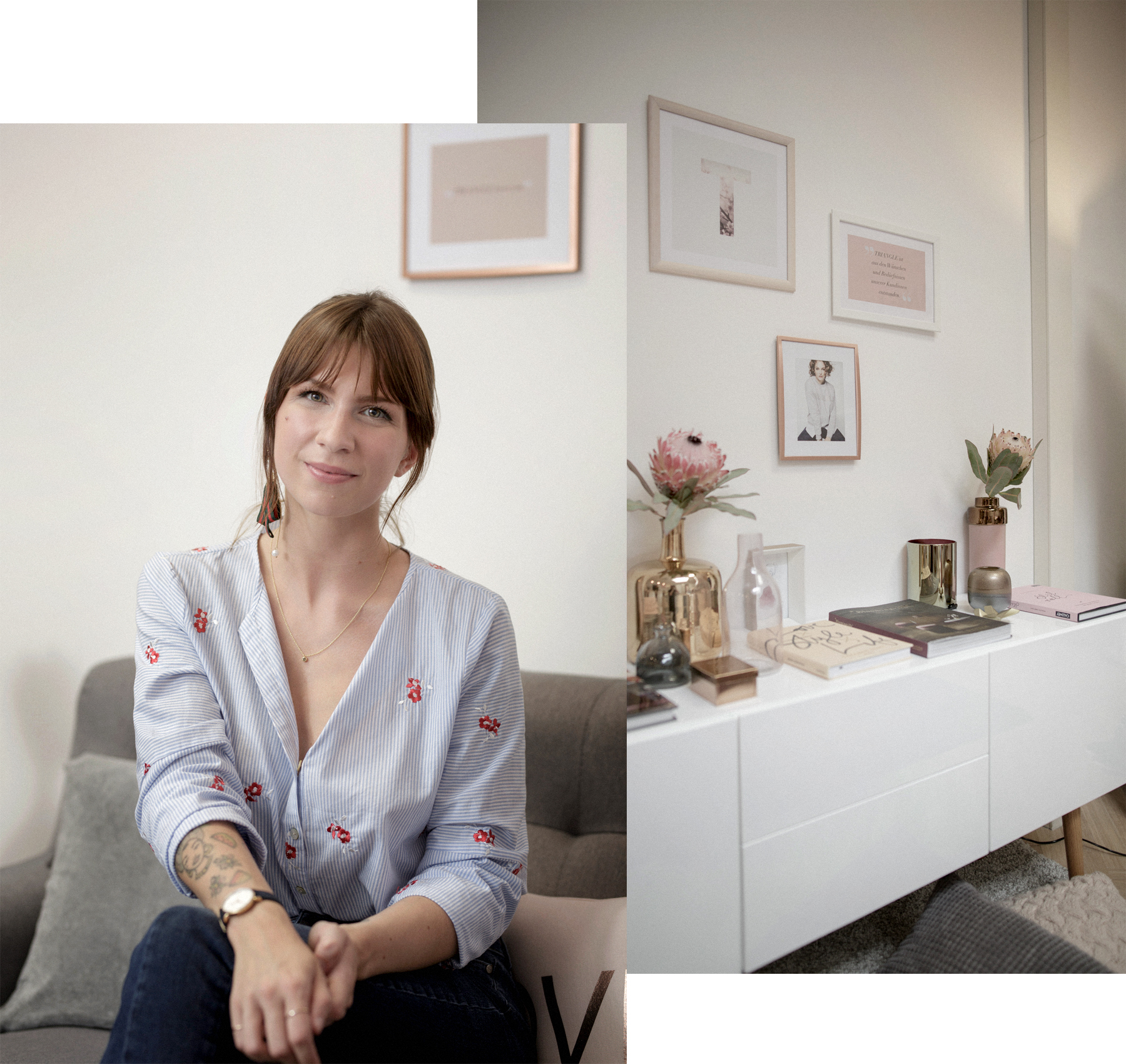 triangle interview business for fashion girls talk fashionblogger rosegold grey minimal scandi style interior brunette bangs cute denim style baby blue cats & dogs modeblog  düsseldorf germany styleblogger outfitblogger ricarda schernus max bechmann 6