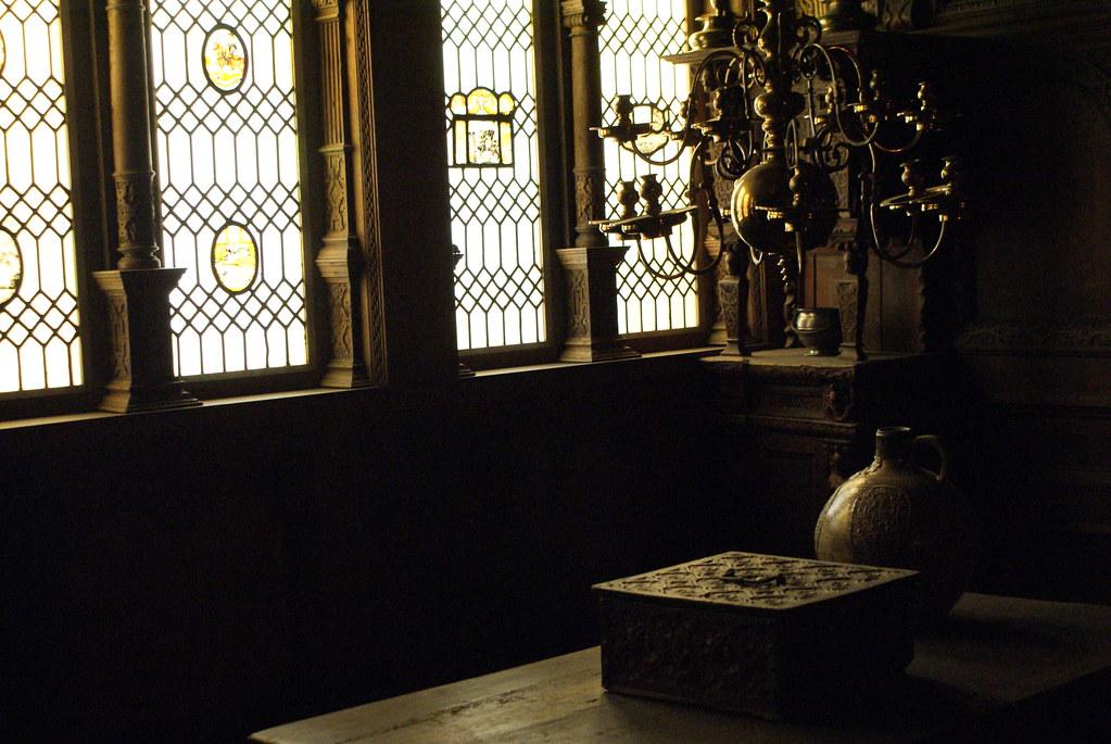 Reconstitution d'un intérieur à l'époque de la renaissance au Musée National à Copenhague.
