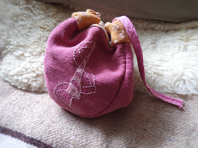 Pink Lancer Dice Bag | Hedgefairy