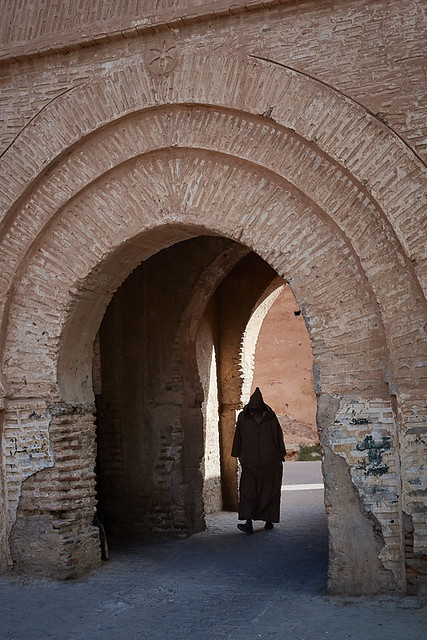 Moroccan man in djellaba, Taroudant, Morocco