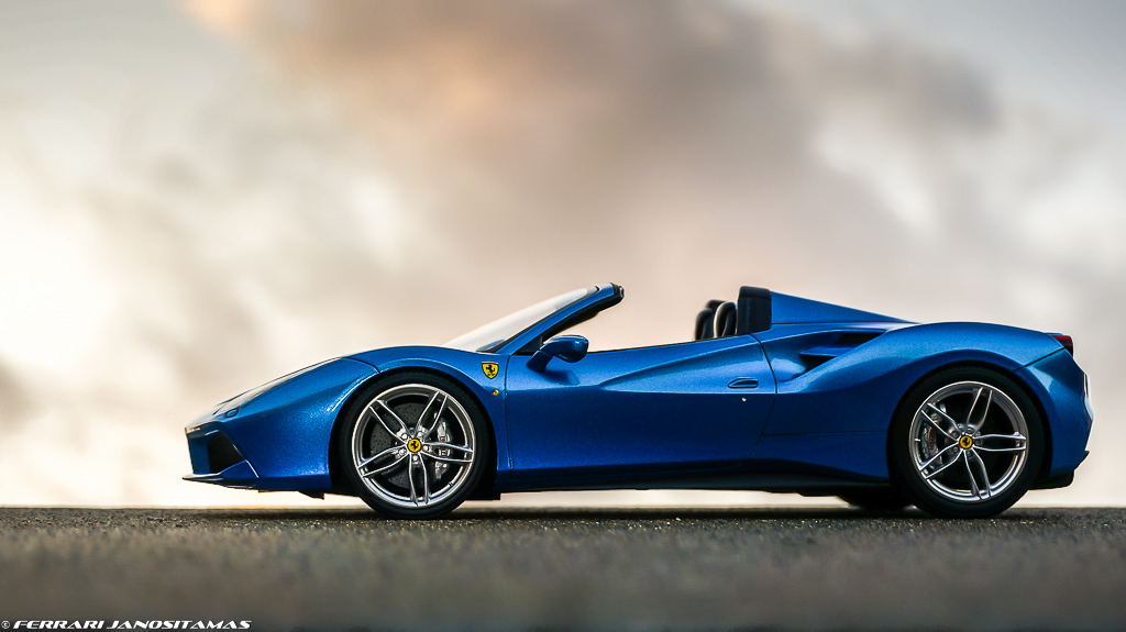 MR 488 Spider open top blue - Ferrari - DiecastXchange.com Diecast ...