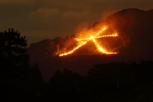 Daimonji --- Traditional fire festival in Kyoto ---