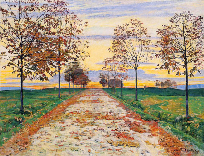Autumn Evening by Ferdinand Hodler, 1893