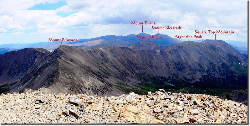 View to the Southeast from Grays Peak's summit