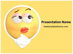 Free Thinking Emoticon PowerPoint Template