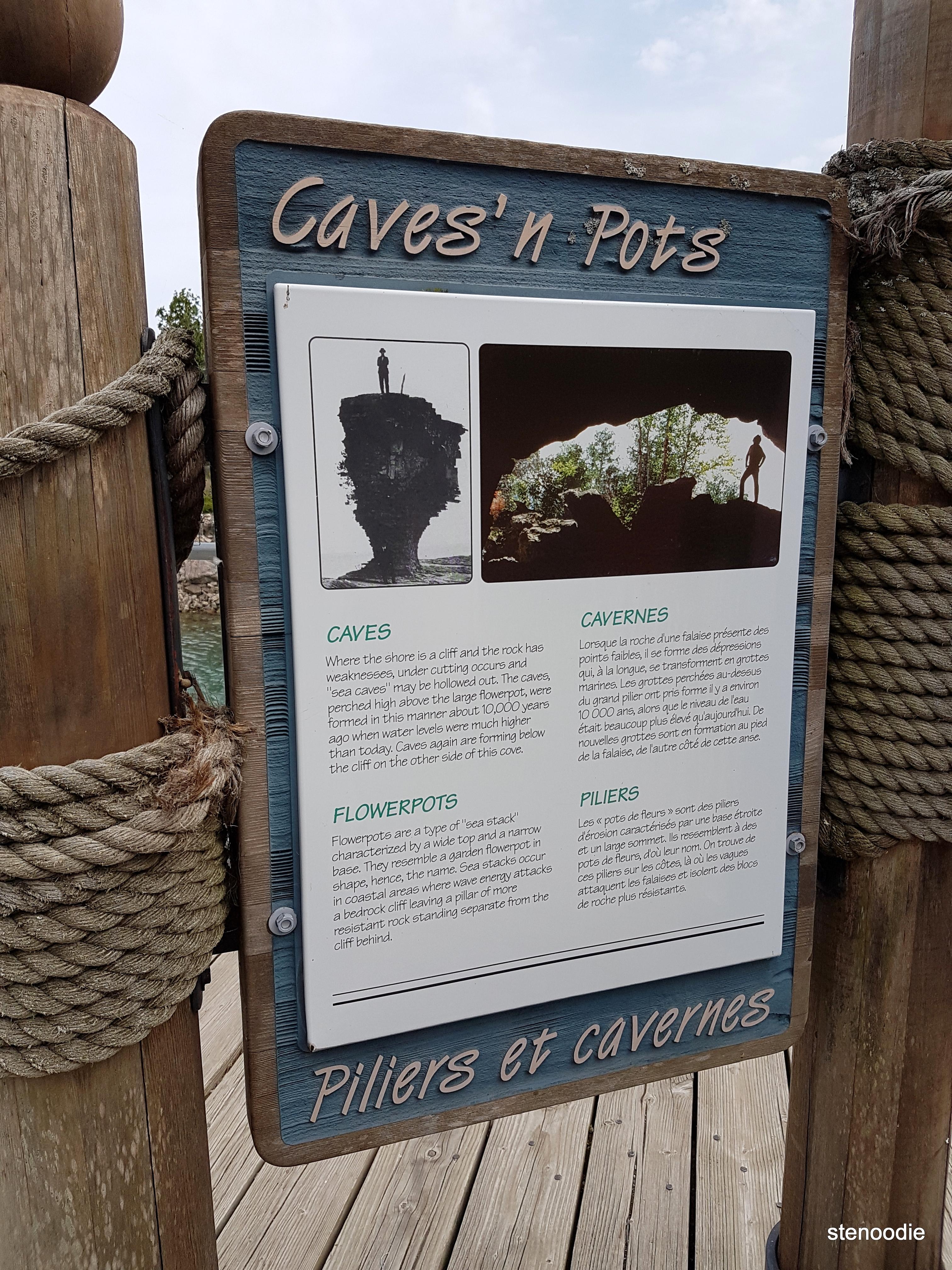 Flowerpot Island infographs