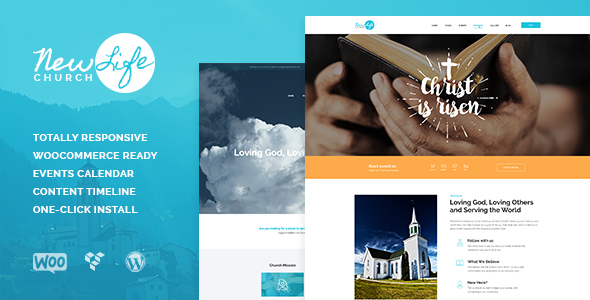 New Life v1.0.4 – Church & Religion WordPress Theme