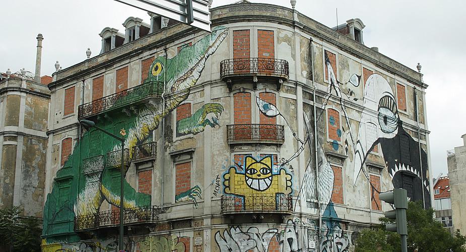 Street art in Lissabon | Mooistestedentrips.nl