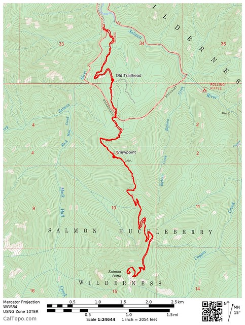 Salmon Butte Map