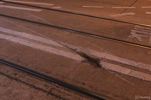 marks of  tram accident