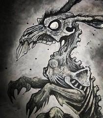Charcoal sketch by Sam Shearon