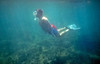 Me myself & I! Jag försöker snorkla (och fridyka) (och lyckas!) i havet vid Krk i Jugoslavien (i dagens Kroatien) Foto: lillebror (har jag för mig...)
