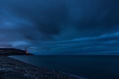 Greystones beach at night