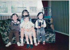 My Big Brother Patrick ( left ), Wee Brother John-Paul ( middle ), Me & Big Sister Melanie.