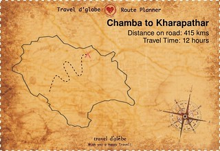 Map from Chamba to Kharapathar