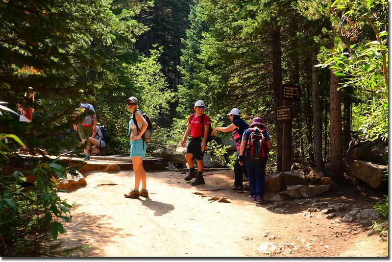 Thumb Trail & Devils Thumb Bypass Trail fork