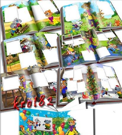 Children photobook for Photoshop – adventures of Leopold