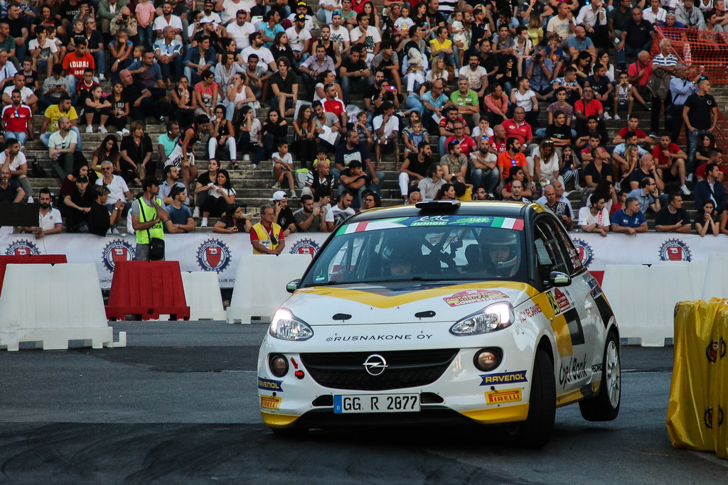 29 HUTTUNEN Jari (FIN) LINNAKETO Antti (FIN) Opel Adam R2 action during the 2017 European Rally Championship ERC Rally di Roma Capitale,  from september 15 to 17 , at Fiuggi, Italia - Photo Jorge Cunha / DPPI