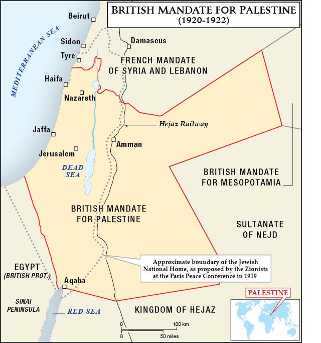British Mandate for Palestine, 1920-1922