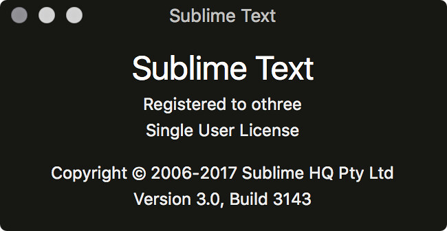 Sublime Text 3,