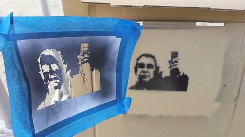 Mike Watt Stencil Progress