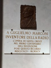 Memorial plaque to Marconi