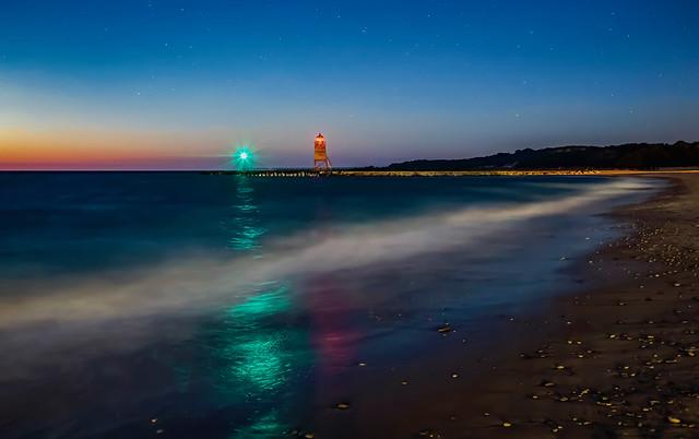 The Shore's Roar at Night