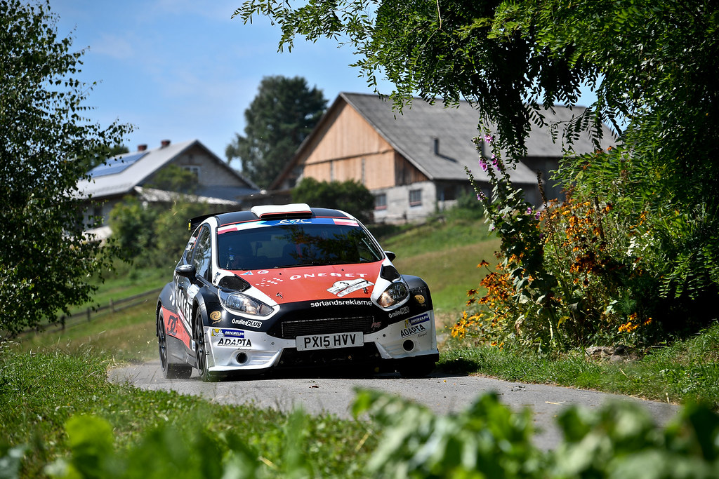 03 OSTBERG Mads (NOR) BARTH Patrik (SWE) Ford Fiesta R5 action during the 2017 European Rally Championship Rally Rzeszowski in Poland from August 4 to 6 - Photo Wilfried Marcon / DPPI
