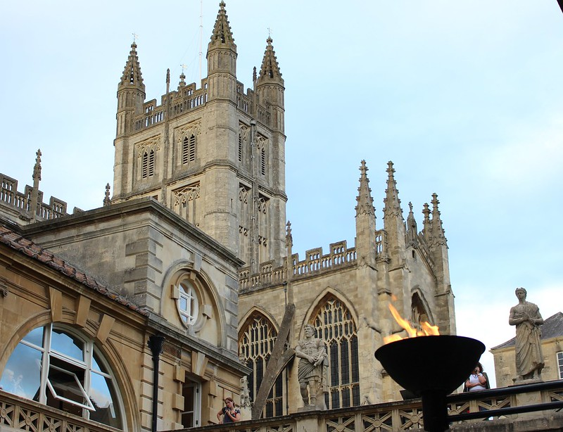 Bath Abbey, from the Roman Baths